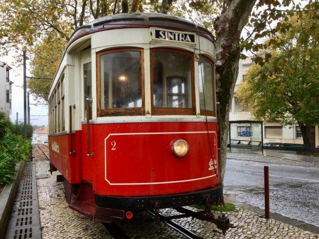 Sintra tourist tram to Praia das Macas