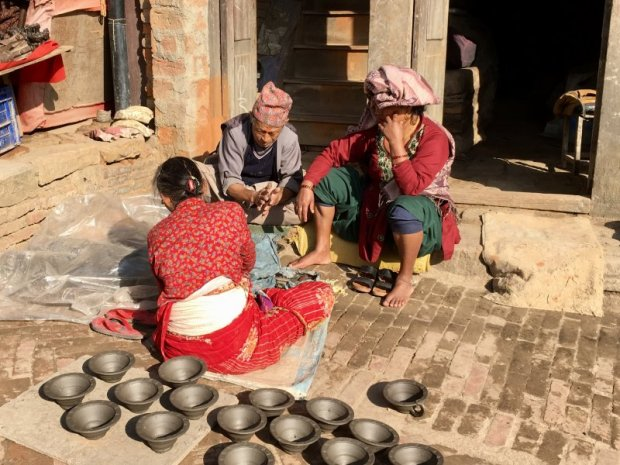On the Pottery Square of Bhaktapur, Nepal