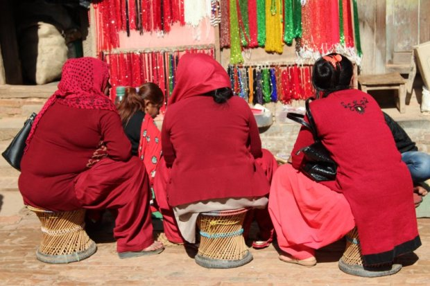 Women in red, Bhaktapur