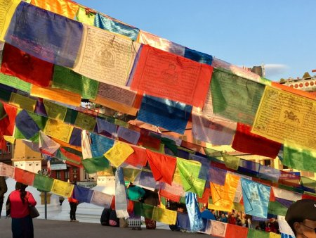 Dreaming about travel: Boudanath Stupa prayer flags