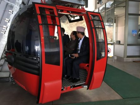 Cable car to Chandragiri Hills