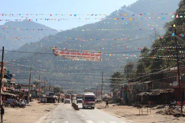 Highway village Pokhara to Kathmandu