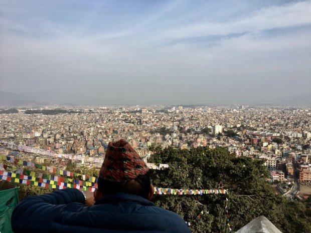 Kathmandu city view from Swayambbunath Temple