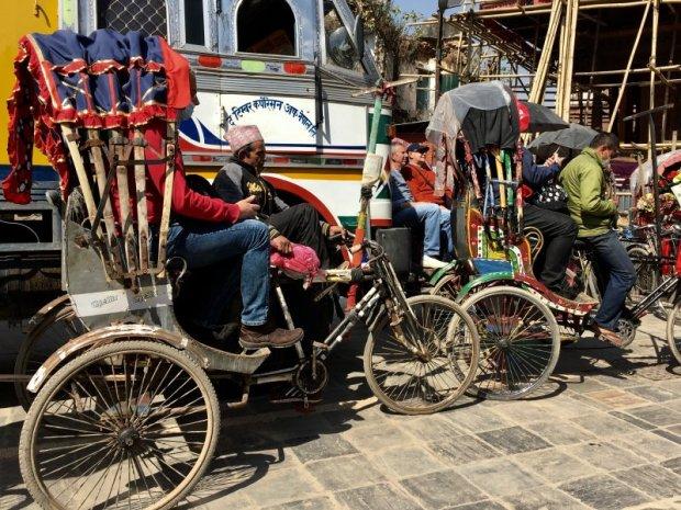 Traffic in Thamel, Kathmandu Old Town