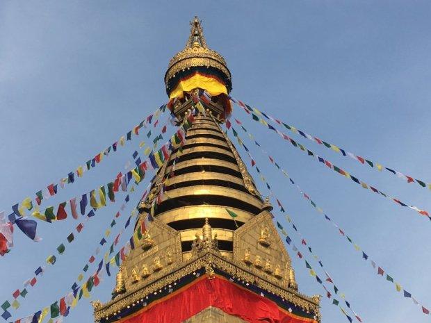 Kathmandu Monkey Temple spire and crown