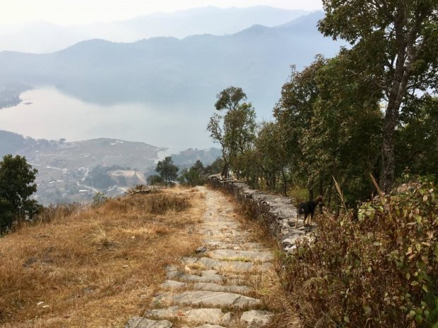 Path Lakeside to Sarangkot