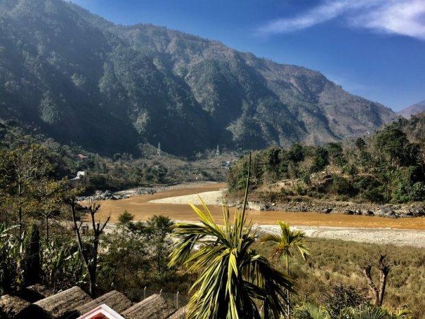 Riverside road from Pokhara to Kathmandu