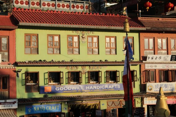 Square around Boudanath stupa, Kathmandu