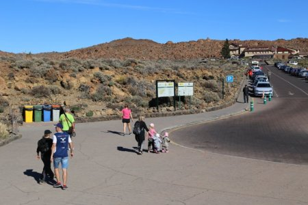 Car park of Mount Teide National Park