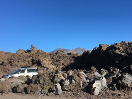 Car trip to Mount Teide