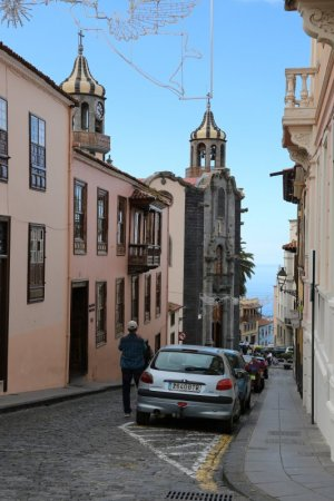 Steep street of La Orotava
