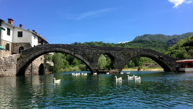 Rijeka Crnojevica old bridge, Lake Skadar National Park