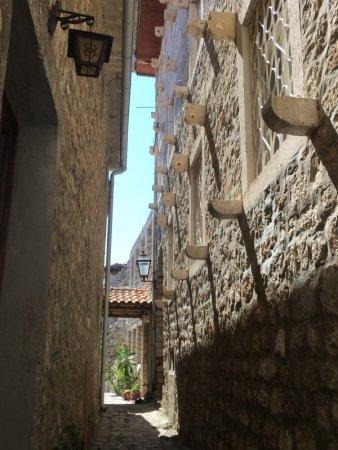 Street in Ulcinj old town Kalaja