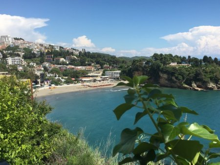 The beach of Ulcinj old town