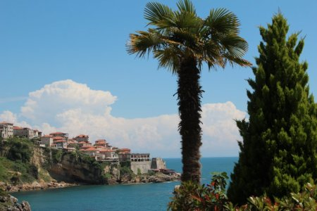 Ulcinj old town from Apartments Eneida