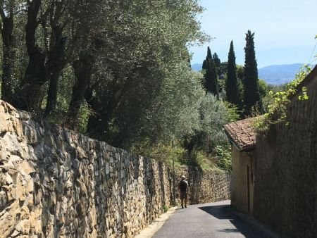Italy by train and car, Fiesole hike