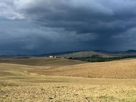Italy by train and car, Val d'Orcia evening