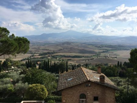 Tuscan countryside from Pienza