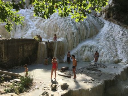 Visiting Bagni San Filippo baths, Tuscany