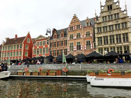 Ghent's medieval harbor