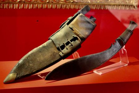 Kukri knives from Nepal, In Flander's Fields Museum