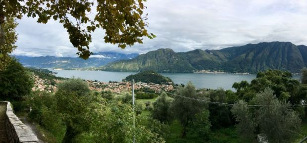 Lake Como scenery from Sacro Monte di Ossuccio