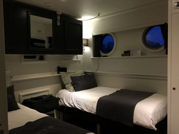 River cruising through the Low Countries: Magnifique III cabin