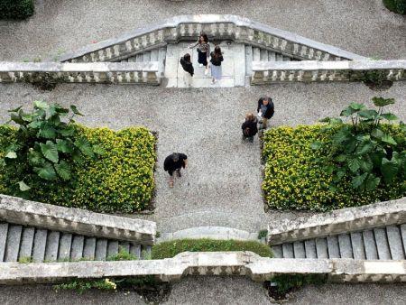 Villa Carlotta staircase, Tremezzo