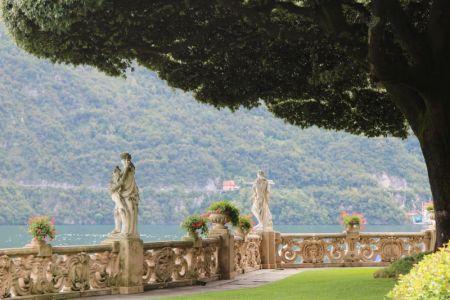 Villa del Balbianello terrace, Lago di Como