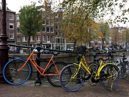 Colorful bikes of Amsterdam