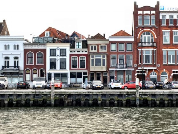 River cruising in the Netherlands: Dordrecht harborside