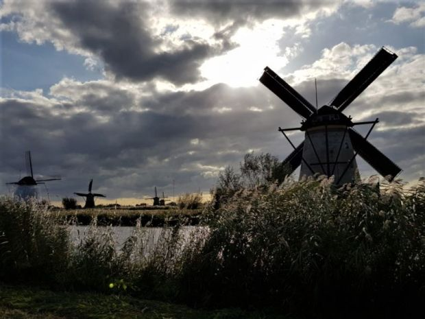 Waterways and windmills of the Netherlands