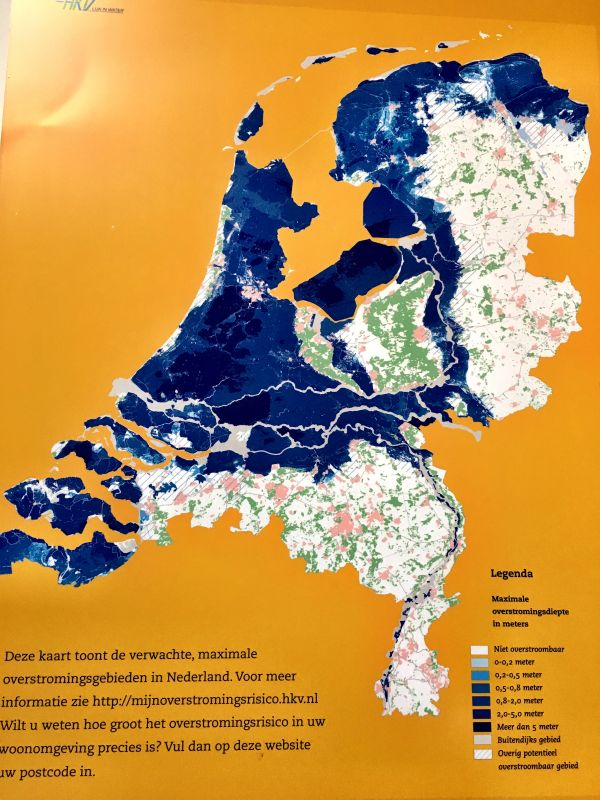 Map of flood prone areas of the Netherlands, Watersnoodmuseum