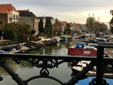 River cruising through Belgium and the Netherlands: a Dordrecht canal