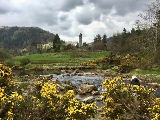 Glendalough, St. Kevin's Church and round stone tower