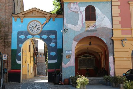 Art in the pretty village of Dozza, Emilia Romagna