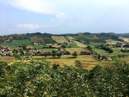 Castell'Arquato hills, Emilia Romagna