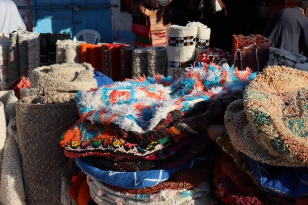 Moroccan items for sale on Taghazout market