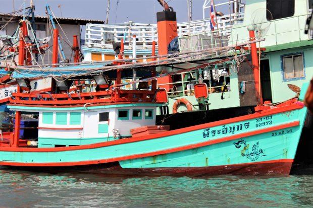 Ko Samet ferry from Ban Phe, fishing village built on poles