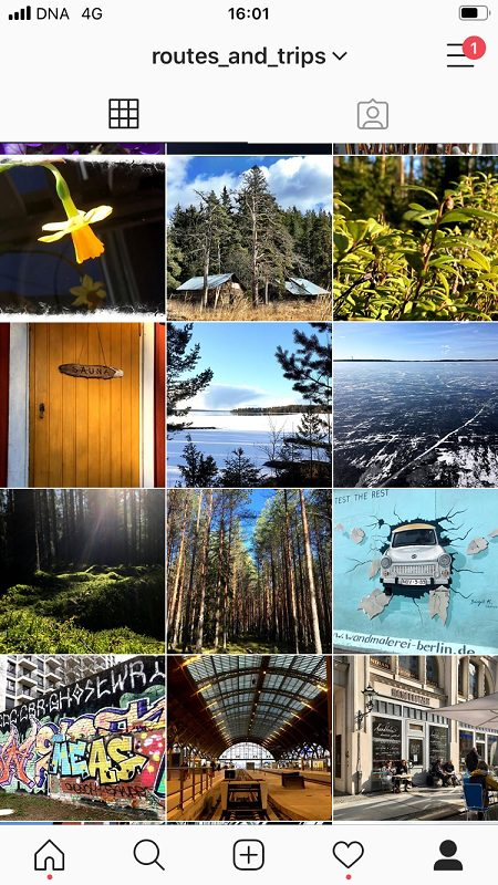 Routes and Trips: Instagram