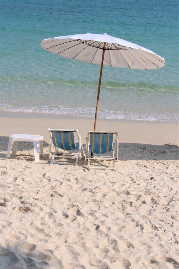 Sun chairs of Ko Samet, Thailand