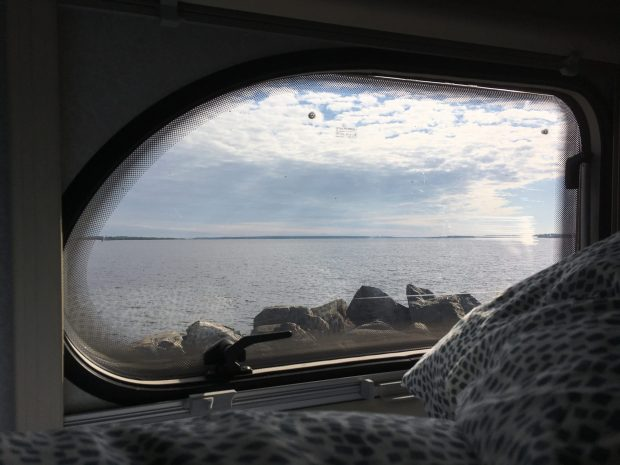 Finland by motorhome: view from my bedroom