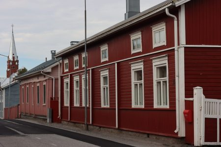Typical buildings of Kristinestad, Finland