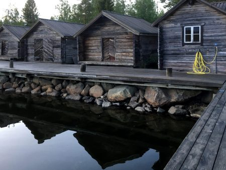Wooden sheds in Bodö, Ostrobothnia
