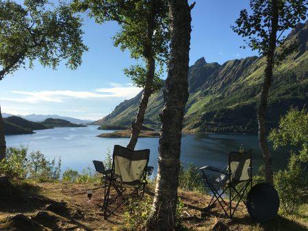Norway by motorhome: picnic in the Lofoten Islands