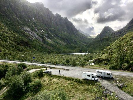 Roadside camping in the Lofoten Islands