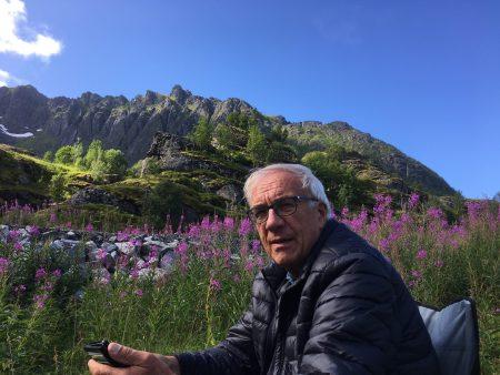 Roadside stop in the Lofoten Islands