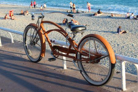 Bike on the beach, Nice, France