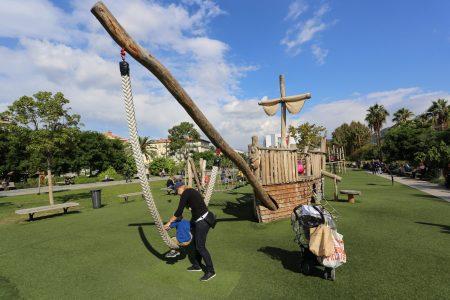 Playground on Promenade du Paillon, Nice