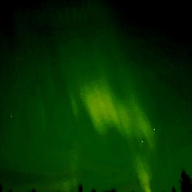 Aurora Borealis seen from an aurora cabin